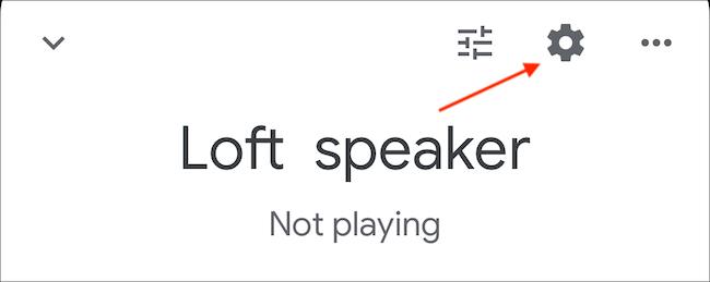 Toque el icono de engranaje (configuración) en la parte superior derecha de la pantalla.
