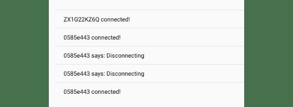 Exemple d'hôte acceptant les connexions des pairs