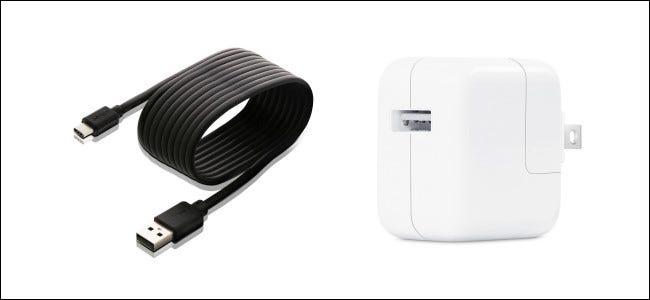 Carga de un interruptor con un cable USB.