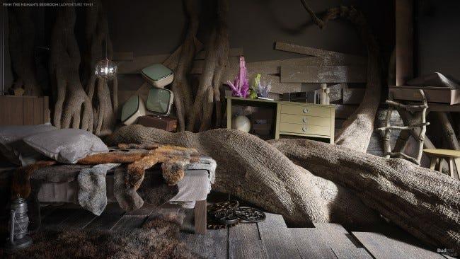 Wie würde Finns Schlafzimmer im wirklichen Leben aussehen?
