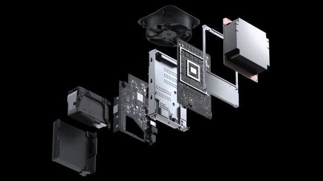 Die internen Komponenten der Xbox Series X.