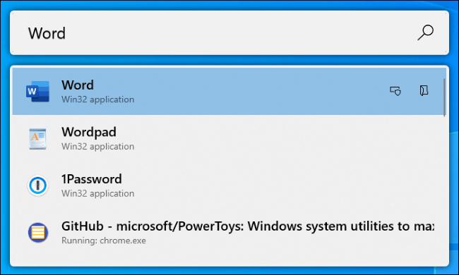 Le lanceur d'applications PowerToys Run sur Windows 10.