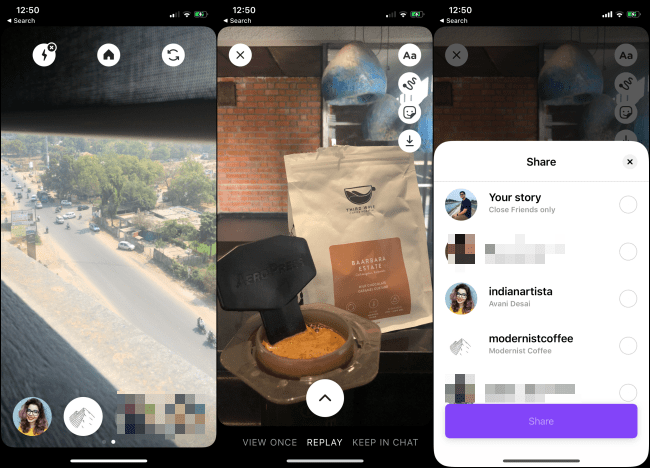L'application Instagram Threads sur un smartphone.