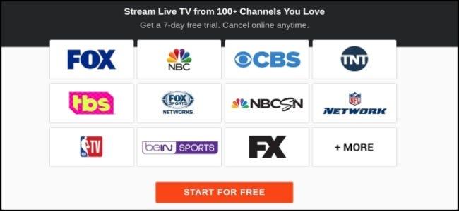 Opciones de canales de FuboTV