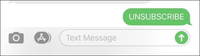 Se désabonner d'une liste de messages texte sur un iPhone.