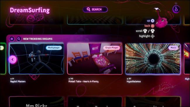 """Dreamsurfing dans """"Dreams"""" pour PS4."""