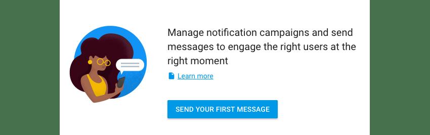 Pregunte antes de enviar su primera notificación de Firebase