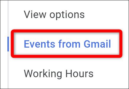Google Kalender Wählen Sie Google Mail-Ereignisse aus