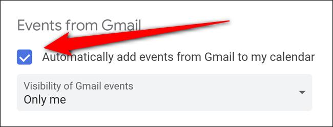 Google Kalender deaktiviert automatische Google Mail-Ereignisse