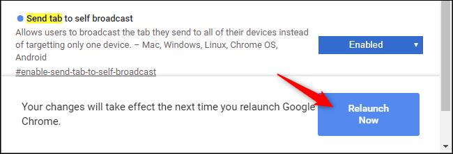 Starten Sie Chrome neu, nachdem Sie eine Anzeige aktiviert haben