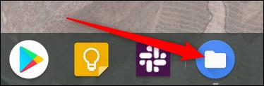 Toutes les applications ouvertes sont affichées dans l'étagère.  Pour basculer directement des bureaux vers cette application, cliquez sur son icône dans l'étagère.