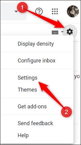 """Cliquez sur le rouage Paramètres, puis cliquez sur """"Paramètres""""."""