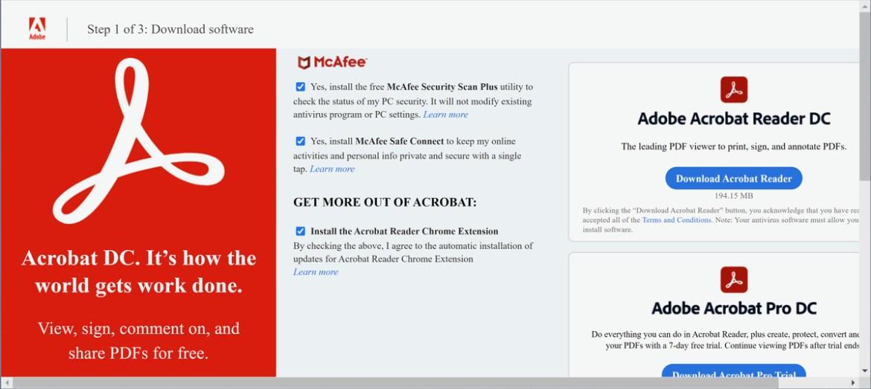 Es ist eine gute Idee, die Werbeangebote von Adobe zu deaktivieren, bevor Sie Acrobat Reader herunterladen.