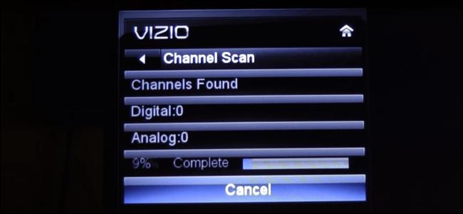 Scannen von Kanälen auf einem Fernseher der VIZIO E-Serie