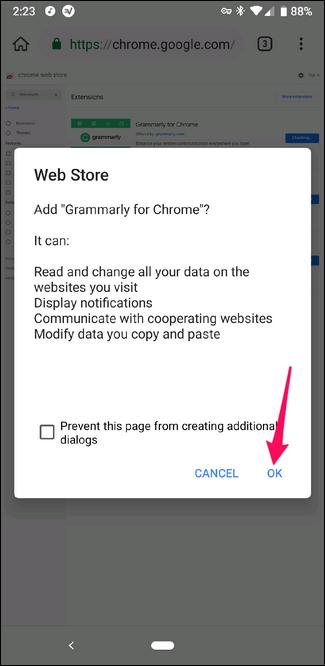 Installieren Sie eine Chrome-Erweiterung im Kiwi-Browser