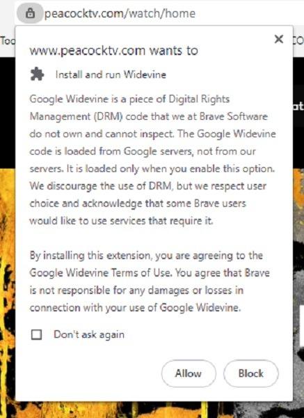 Qu'est-ce que l'avis d'installation de Google Widevine Drm?