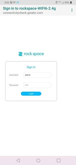 Application d'examen du routeur Wi-Fi 6 Rock Space Ax1800