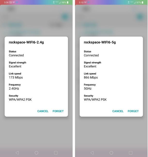 Examen du routeur Rock Space Ax1800 Wi Fi 6 après