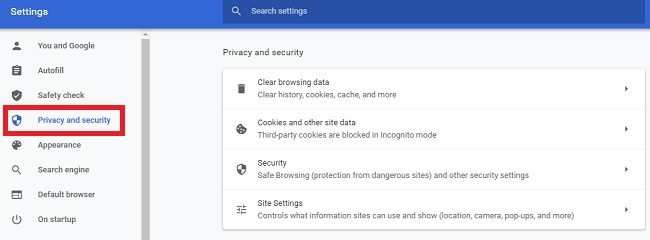 Comment copier du texte à partir d'un site bloqué dans la confidentialité de Chrome