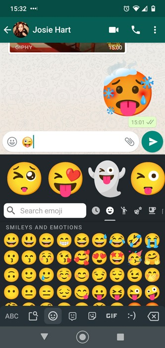 Intensification Android Emoji Combos Gboard