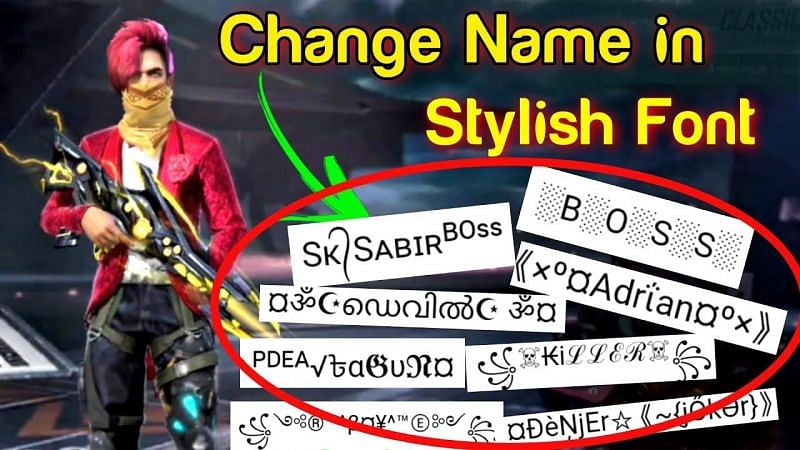 Les joueurs peuvent conserver des noms fantaisistes comme surnom dans Free Fire (Image via Gaming Chiranjit, YouTube)