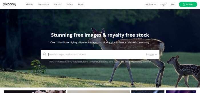 Sites d'images de stock Pixabay
