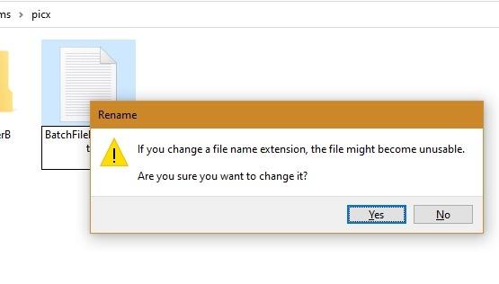 Fichiers batch Win10 Fichier inutilisable 1