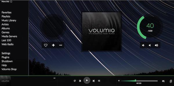 Vous pouvez accéder à des millions de chansons, dont l'intégralité du catalogue Spotify, via la console Volumio.
