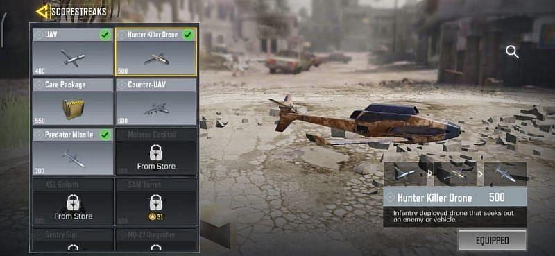 Le drone Hunter Killer dans COD Mobile (Image via Sportskeeda)