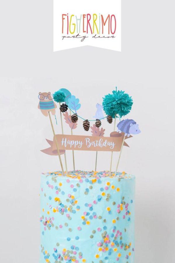 Cake Topper - Amici nel Bosco