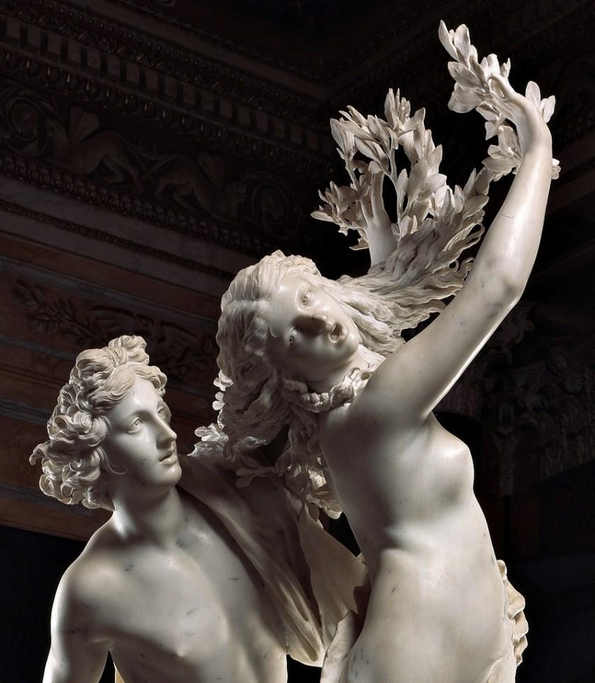Apollo e Dafne del Bernini, alla Galleria Borghese di Roma