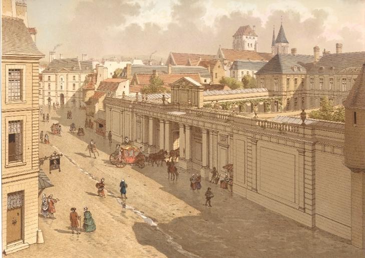 veduta di Parigi negli anni 1770, dieci anni prima che Mozart vi pubblicasse la Sonata K 302