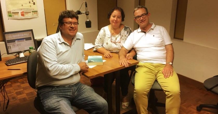 Luigi Picardi, Luca Bianchini e Anna Trombetta a Radio Vaticana