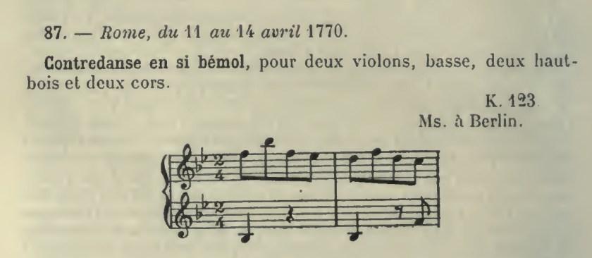 Catalogo Wyzewa - de Saint-Foix 87, K.123, contraddanza in sol maggiore