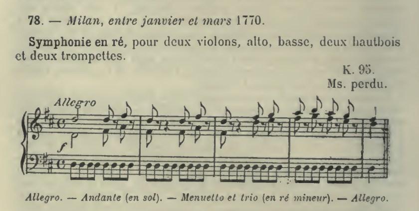 Catalogo Wyzewa - de Saint-Foix 78, K 95, sinfonia in re maggiore