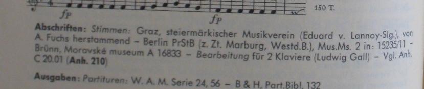 Catalogo KöchelK 98, sinfonia in fa maggiore