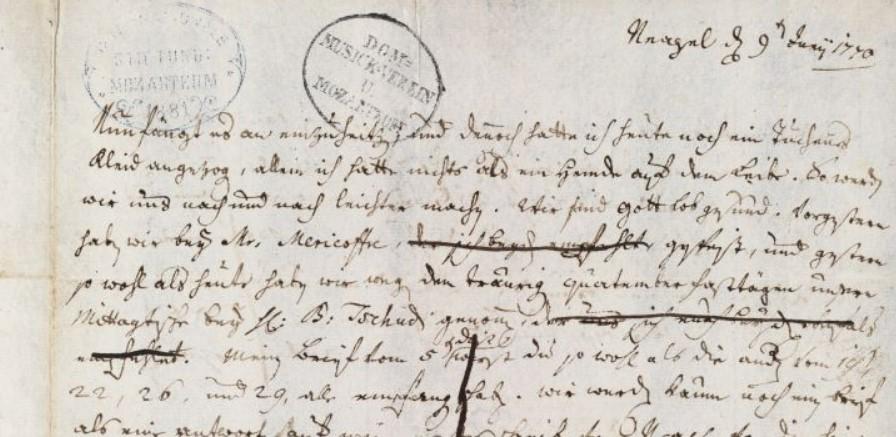 Leopold, lettera del 9 giugno 1770