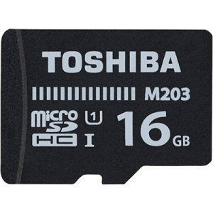 Toshiba M203 16 GB MicroSD Card Class 10 100 MBs Memory Card