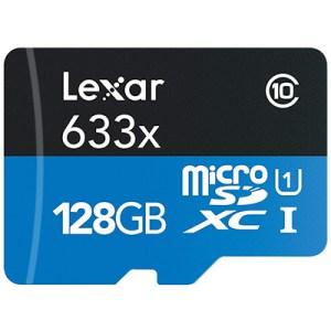 Lexar High-Performance microSDXC 633x 128GB UHS-I Card