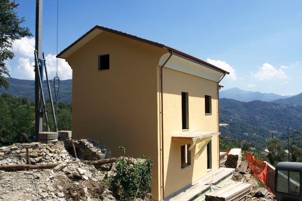 Calvari, Genova casa passiva in legno bbs mozzone bs