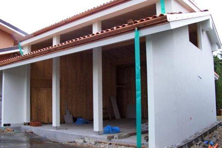 Cherasco, Cuneo ampliamento con autorimessa legno BBS