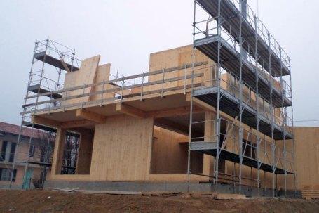 Cherasco cantiere costruzione secondo piano