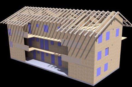 Vinovo Render edificio multifunzionale a 3 piani fuori terra