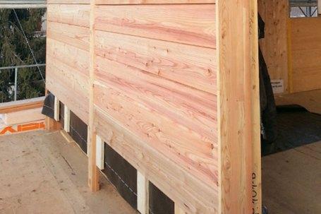 Cherasco cantiere finiture pareti esterne in legno