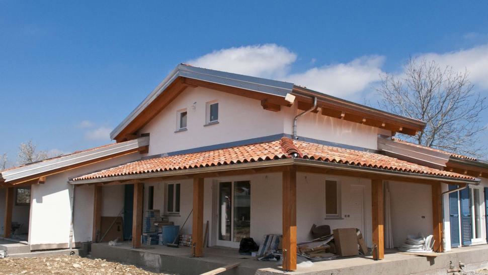 Beinette cuneo casa in legno bbs con autorimessa for Avvolgere le planimetrie del portico