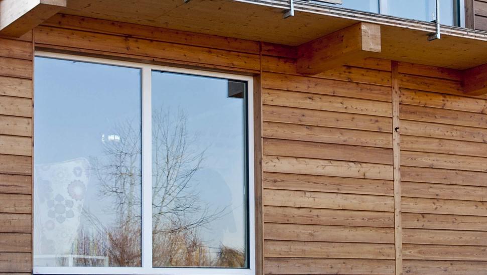 casa in legno bbs di 2 piani a Cherasco - Facciata