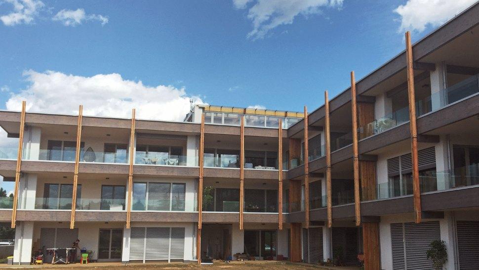 Cantiere condominio in legno x-lam BBS a Vimercate, Monza 20