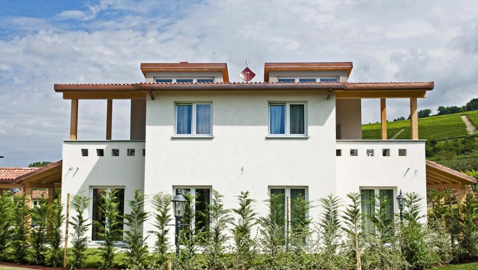 Appartamenti in legno BBS x-lam-Barolo Cuneo - facciata