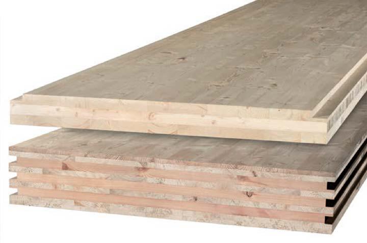 Due pannelli in legno BBS a 3 e 7 strati