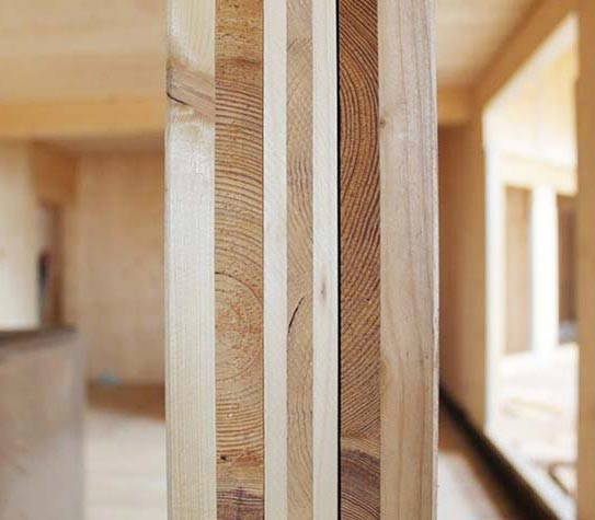 pannello BBS in legno massiccio - sezione